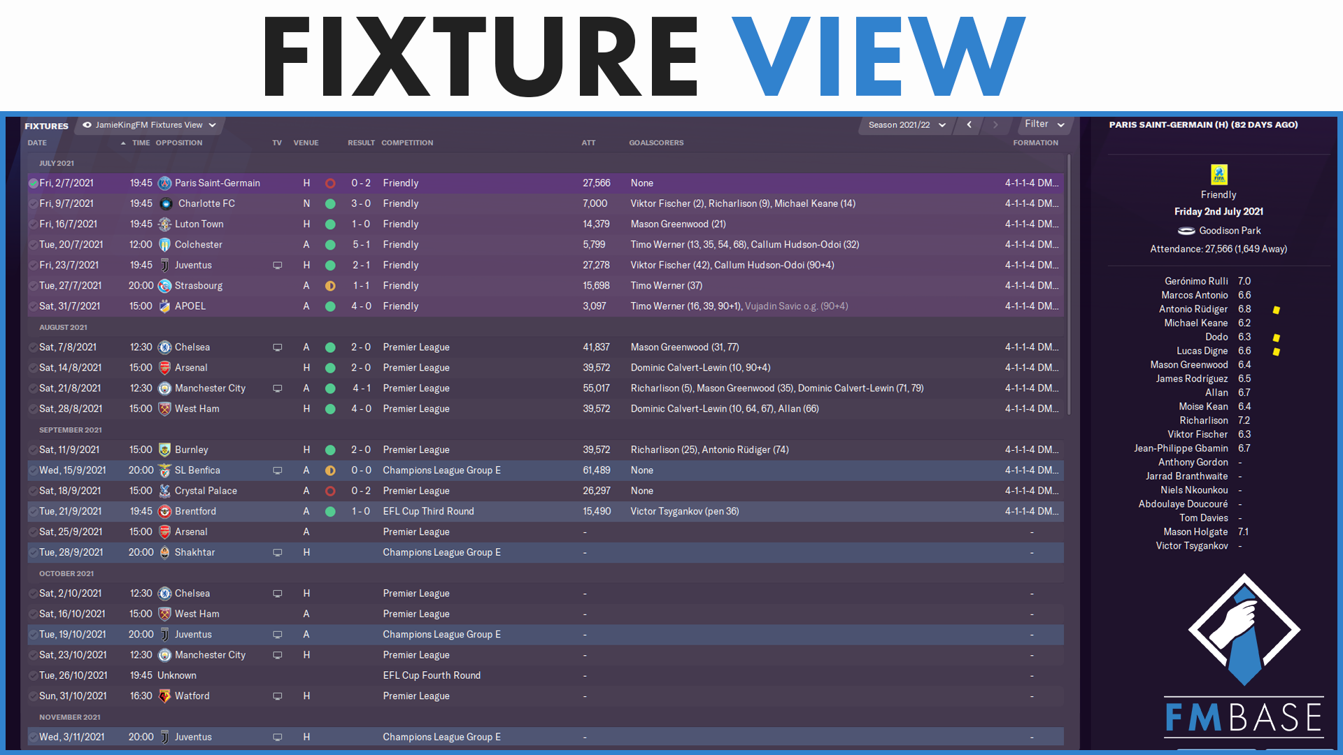 """FM21 - Custom View - Fixtures View"" feature image"