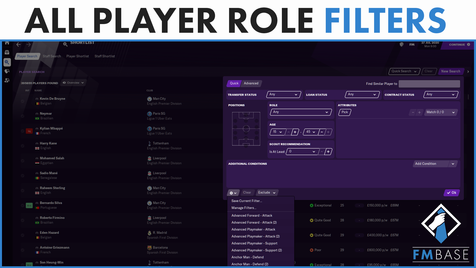 """FM21 - Custom Filter - Player Roles"" feature image"