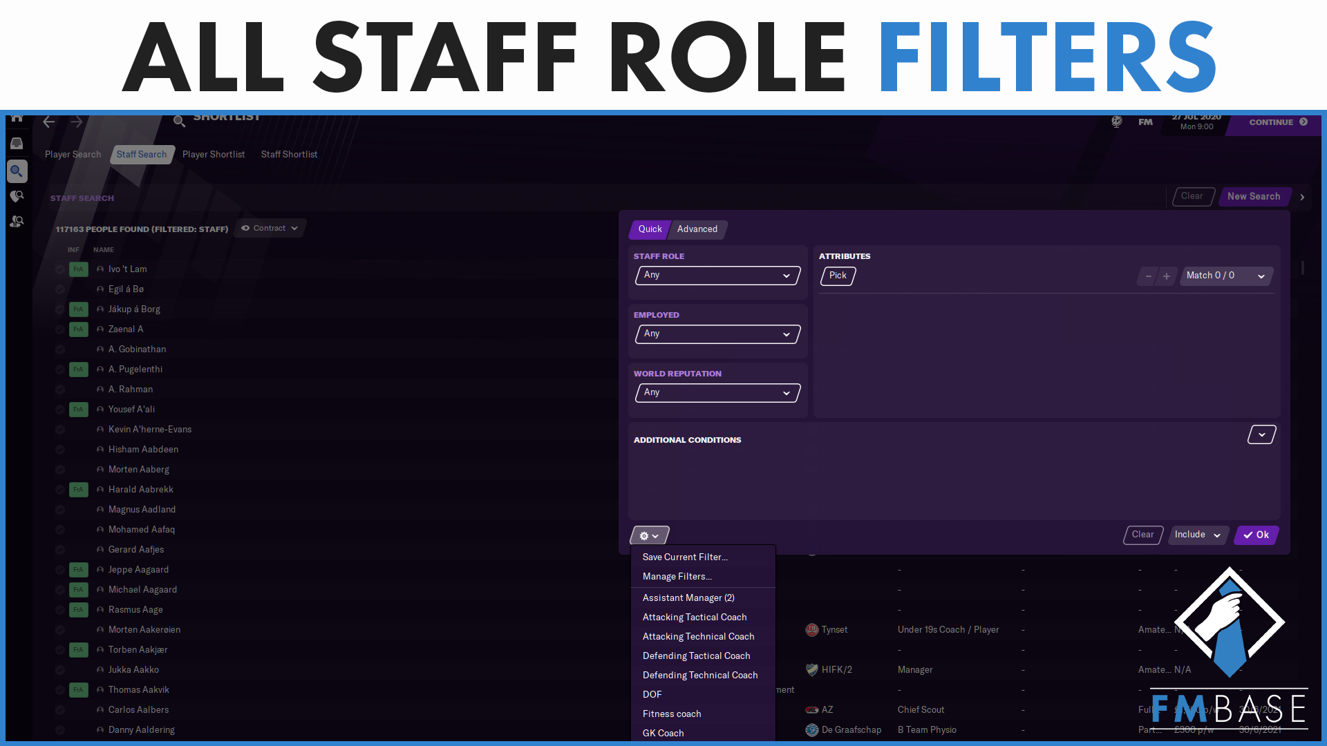 """FM21 - Custom Filters - Staff Roles"" feature image"