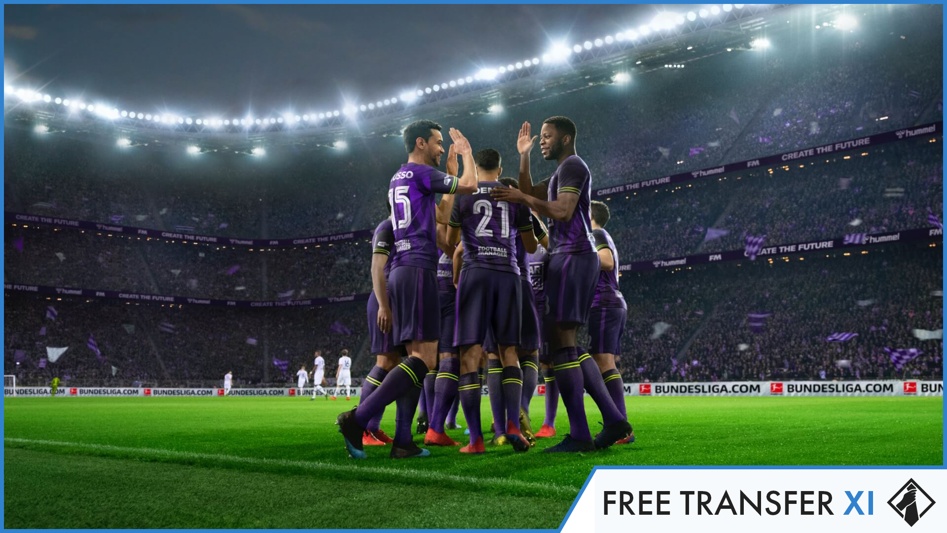 """Football Manager 2021 - Free Transfer XI"" feature image"