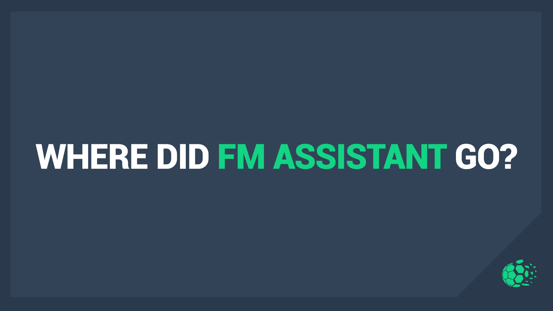 """A statement regarding our FM Assistant app"" feature image"