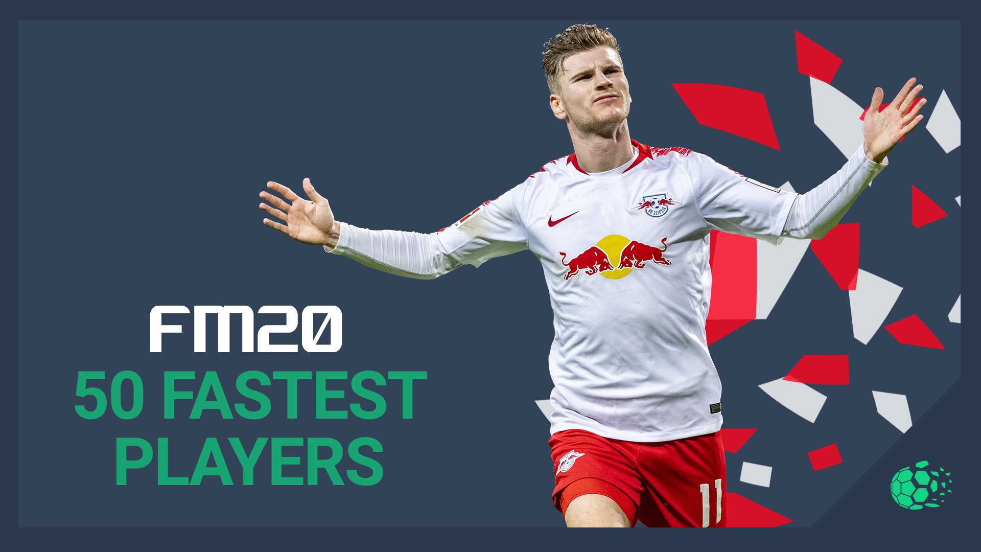 """FM20 50 Fastest Players"" feature image"